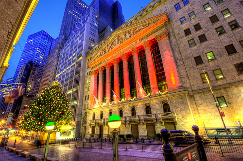 The New York Stock Exchange at Night (Dan DeChiaro)