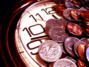 Begin investing - and you, too, can have a clock covered in coins