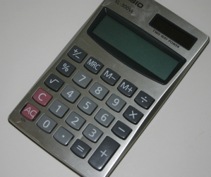 Picture of a Casio calculator