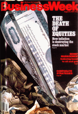 Businessweek death of equities cover