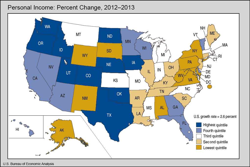 Personal Income Growth By State
