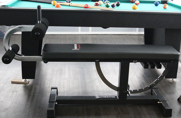 Ironmaster Super Bench with Crunch situp Attachment... Attached