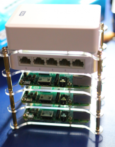 Raspberry Pi Hadoop Cluster picture Straight On