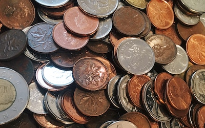 Picture of Canadian coins