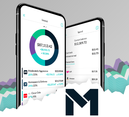 M1 Finance Review logo and app screenshot