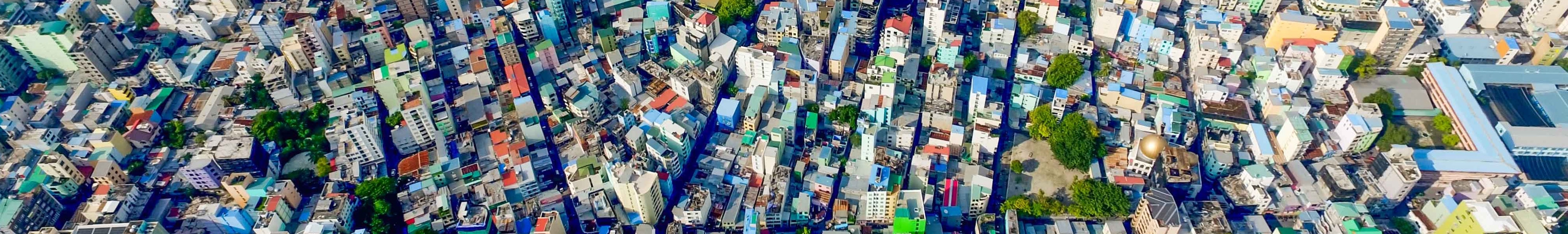 Picture of a large city which looks like its had major population growth.